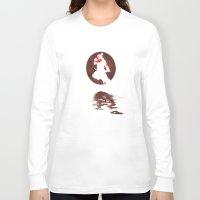 street fighter Long Sleeve T-shirts featuring Bloodmoon Akuma, Street Fighter by Thorn Blackstar