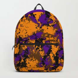 Camping, Purple Night Sky Through the Trees; Fluid Abstract 59 Backpack
