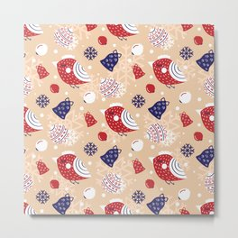 Merry pattern Metal Print