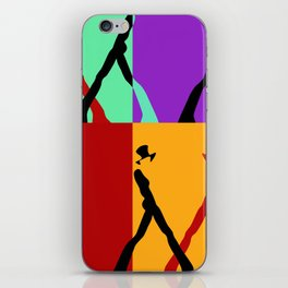 Abstract graphic color print iPhone Skin