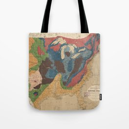 Vintage United States Geological Map (1872) Tote Bag