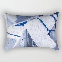 Blue/White Runway Rectangular Pillow