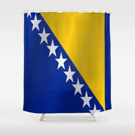 Flag of Bosnia and Herzegovina Shower Curtain