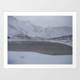 Frozen lagoon Art Print