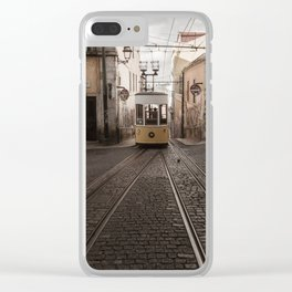 Lisbon Trams Clear iPhone Case