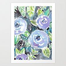 GARDENS OF MONTCLAIR Lavender Floral Art Print
