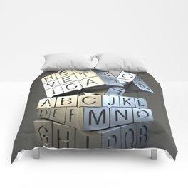 Helvetica rubik Comforters