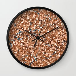 Vintage Marbled Texture - Organic Overdose Wall Clock