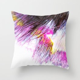 Paintbrush Bristles Macro Photography Throw Pillow