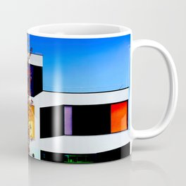 Woman in Dutch designed modern House of colors. abstract pastel color photo print art  Coffee Mug