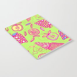 Tropicana on lime green Notebook