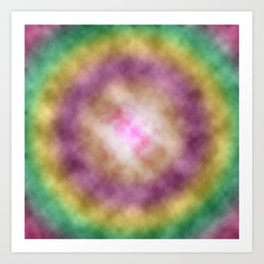 Tie-dyed Clouds Art Print