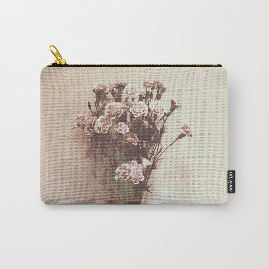 Abstract Vintage Flowers Carry-All Pouch