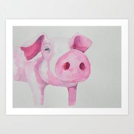 Fuchsia Piggy Art Print