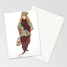 Girl and a Tuque Stationery Cards