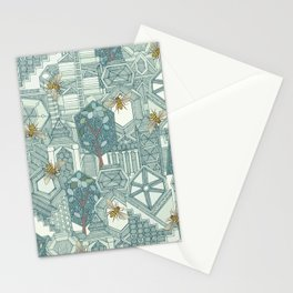 hexagon city Stationery Cards