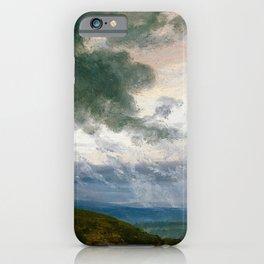 Johan Christian Dahl - Study Of Drifting Clouds - Digital Remastered Edition iPhone Case