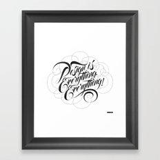 Design is Everything. Everything. Framed Art Print
