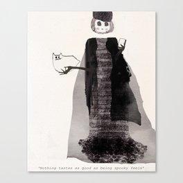 Spooky Skinny Canvas Print