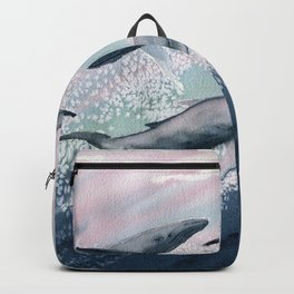 Whale Watercolor 2 Backpack