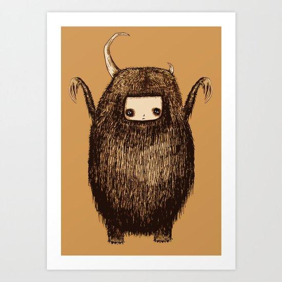 Big Mean Monster Art Print
