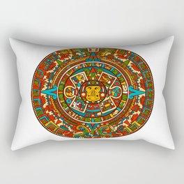 Aztec Mythology Calendar Rectangular Pillow