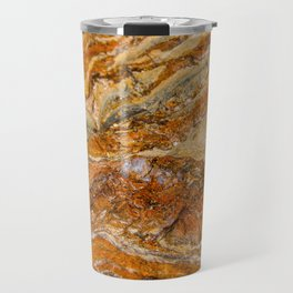 Orange Rock Texture Travel Mug