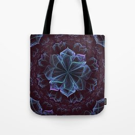Ornate Blossom in Cool Blues Tote Bag