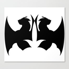 Dragon Silhouette Canvas Print
