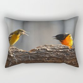 Baltimore Orioles - A Dysfunctional Family - A Nature Art Print Rectangular Pillow
