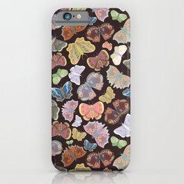 Moths Pattern - Dark Brown iPhone Case