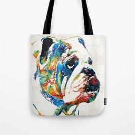 Bulldog Pop Art - How Bout A Kiss - By Sharon Cummings Tote Bag