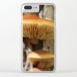 Mushroom 2 Clear iPhone Case