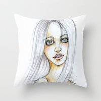 "transparent Throw Pillows featuring ""TRANSPARENT"" by AB.13"