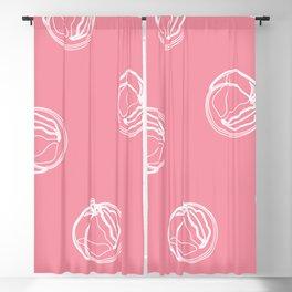Pink Peaches Blackout Curtain