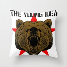 The Young Idea - Grizzly Logo Throw Pillow