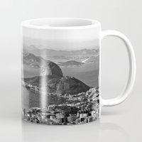 rio de janeiro Mugs featuring Rio De Janeiro by ricardoaguiar
