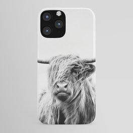 portrait of a highland cow - (vertical) iPhone Case