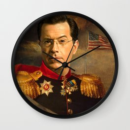Stephen Colbert 19th Century Classical Painting Wall Clock