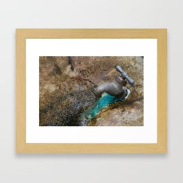 rusted drip Framed Art Print