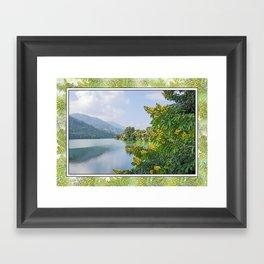PHEWA LAKE POKHARA NEPAL  Framed Art Print