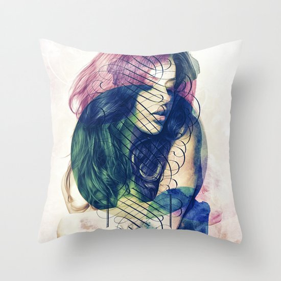 Ecstasy has No Name. Throw Pillow