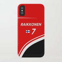 f1 iPhone & iPod Cases featuring F1 2015 - #7 Raikkonen by MS80 Design