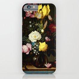 "Ambrosius Bosschaert the Elder ""Bouquet of Flowers in a Glass Vase"" iPhone Case"