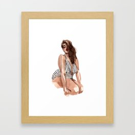 While we are here Framed Art Print