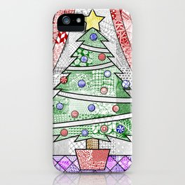 Coloured Christmas Tree iPhone Case