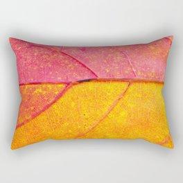 the leaf close up view - beautiful nature photo Rectangular Pillow