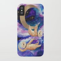 sloths iPhone & iPod Cases featuring Sloths in Space by Kamina