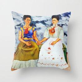 TWO FRIDAS Throw Pillow