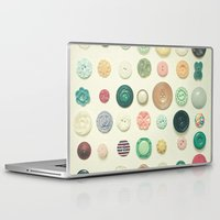 cassia beck Laptop & iPad Skins featuring The Button Collection by Cassia Beck